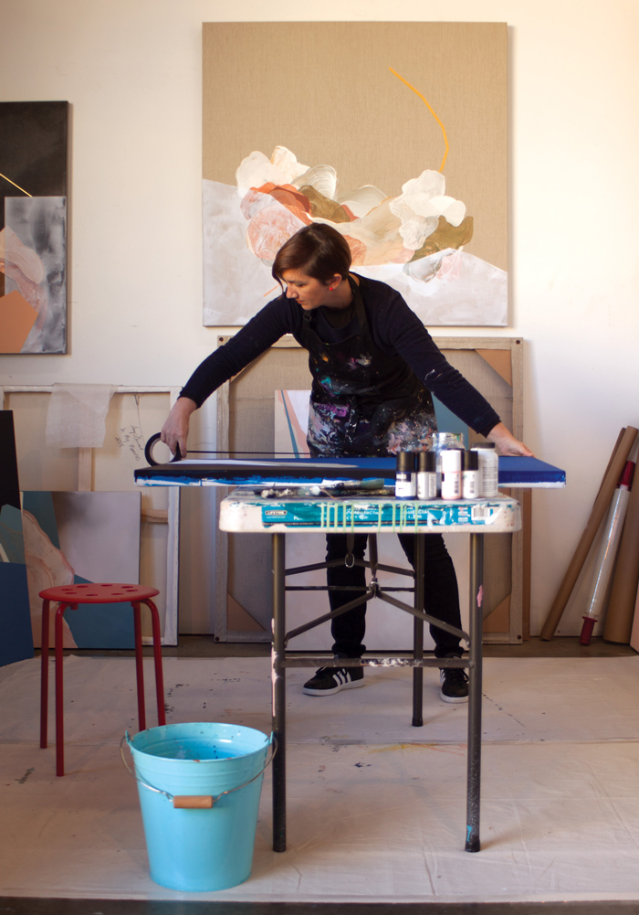 Amy Stewart in her studio