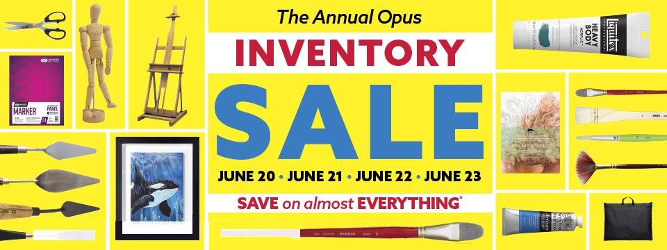 The Opus Annual Inventory Sale returns with almost ALL PRODUCTS WE STOCK ON SALE!*