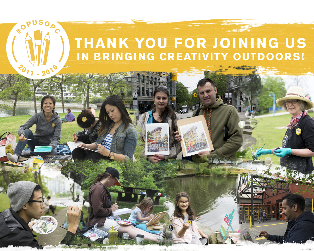 Thank you for joining us for the 5th Annual Opus Outdoor Painting Challenge!