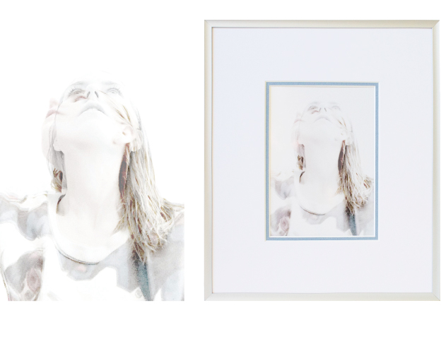 Left: original image; Right: Framed and printed image