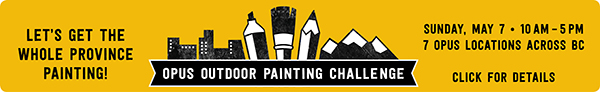 Opus Outdoor Painting Challenge: Saturday, May 7